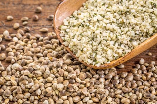 Ядра и семена конопли