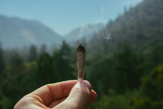 Дымящаяся самокрутка