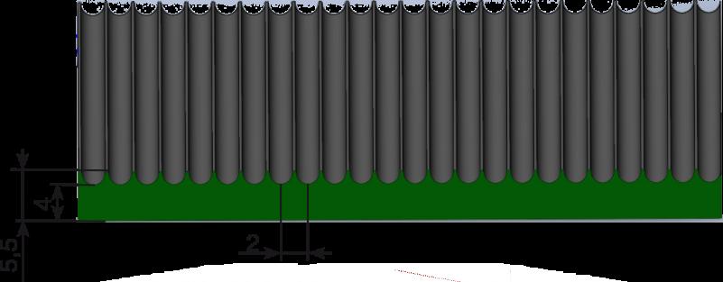 """Резина рулонная ш.1,5м """"мелкий рубчик"""" черная"""