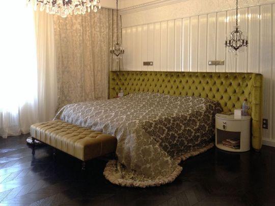 шторы в спальне в стиле итальянский шик