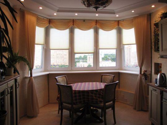 шторы плиссе на кухне солнцезащита