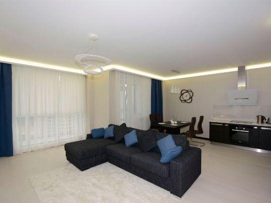 шторы а гостиной в стиле минимализм