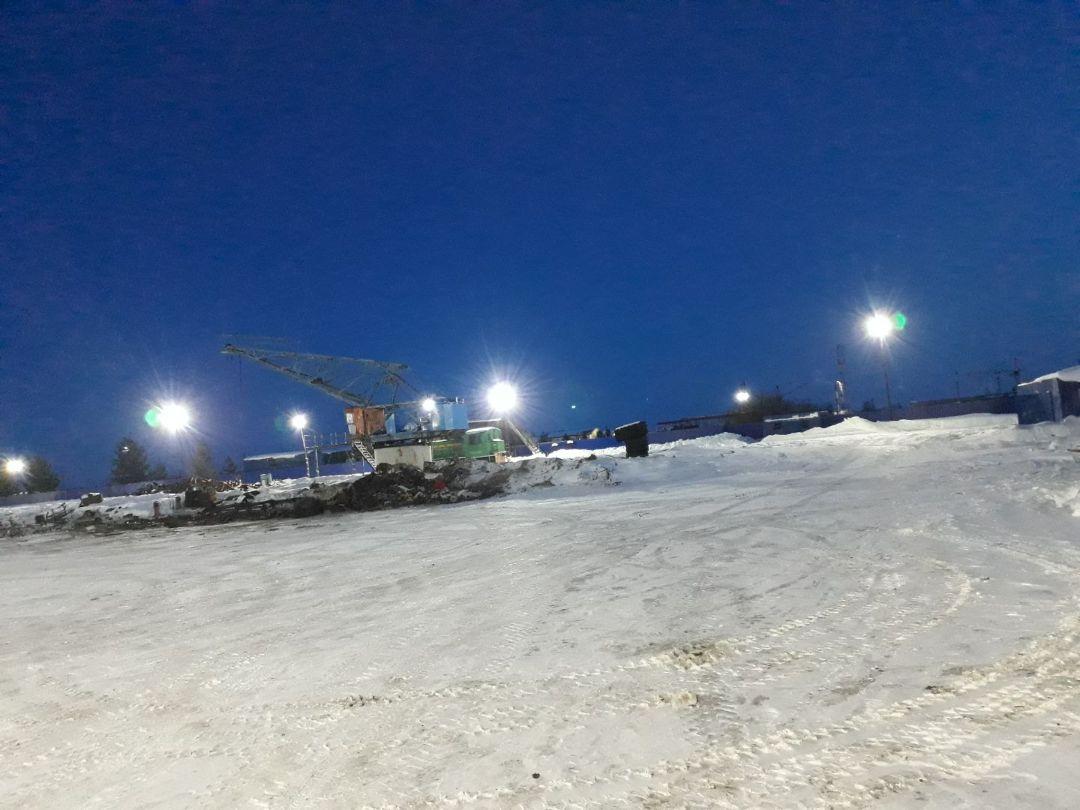 Освещение производственной базы в городе Когалым