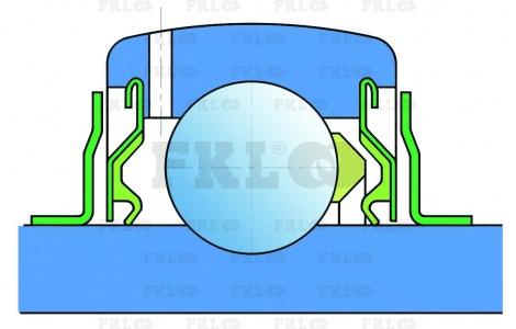 bearing LES204-2F FKL