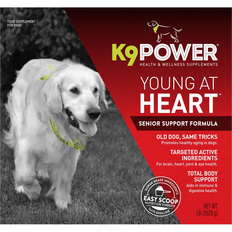 K9 POWER YOUNG AT HEART ДЛЯ ПОЖИЛЫХ СОБАК 454гр Фото Bestfordog.ru