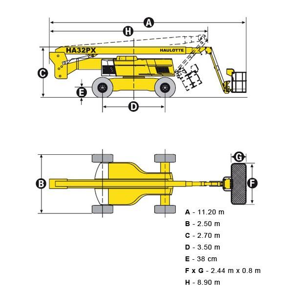 Коленчатый дизельный подъемник HA32PX