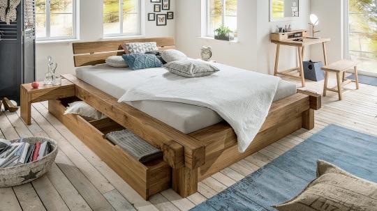 кровать из дубового бруса