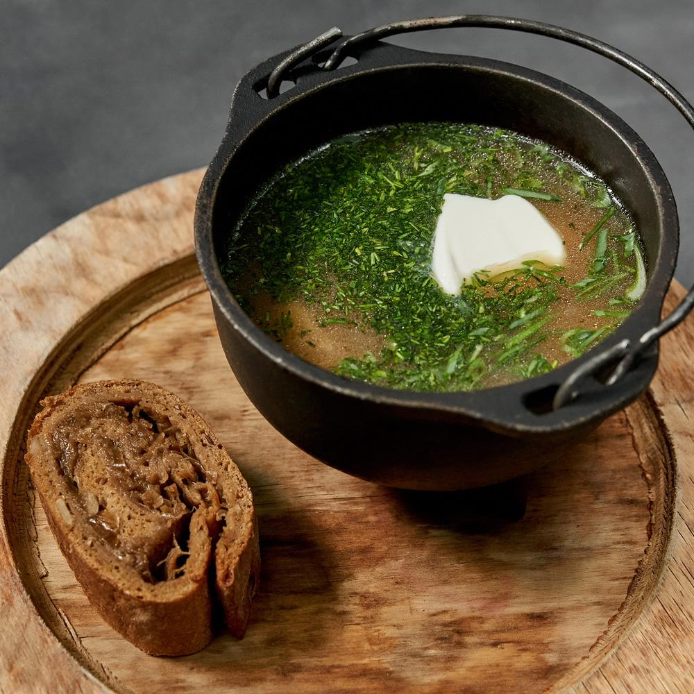 Деревенский суп из белых грибов