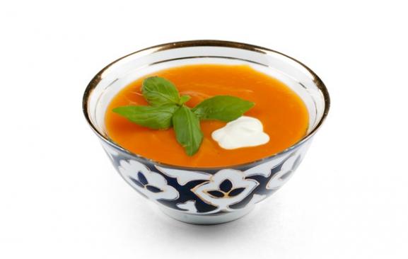 Крем-суп из печёных овощей