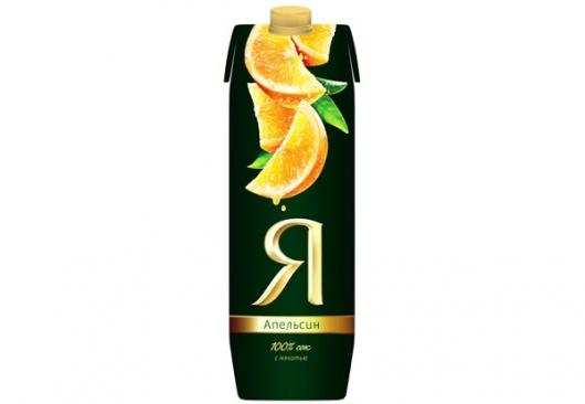 """Сок """"Я"""" апельсиновый 1 л"""
