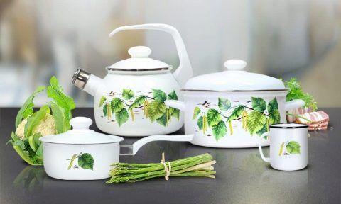Посуда для приготовления эмалированная