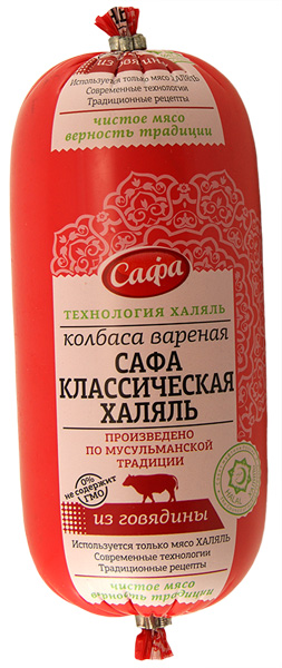 Колбаса вар «Сафа Классическая Халяль» п/а малый батон