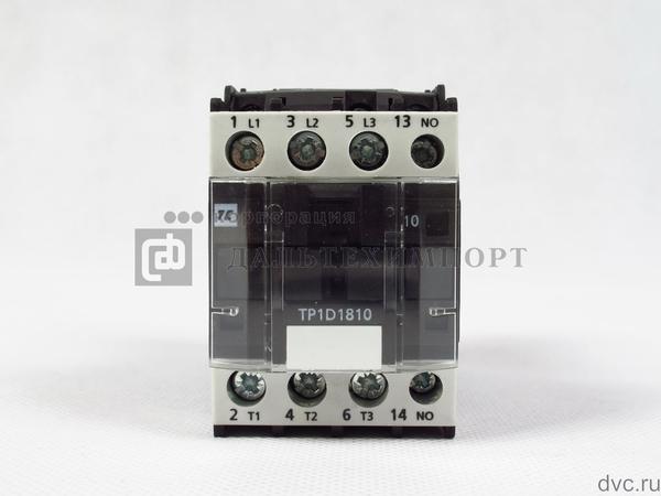 Контактор TC TP1-D1810 (3L-НО+1НО) 48VDC 18A