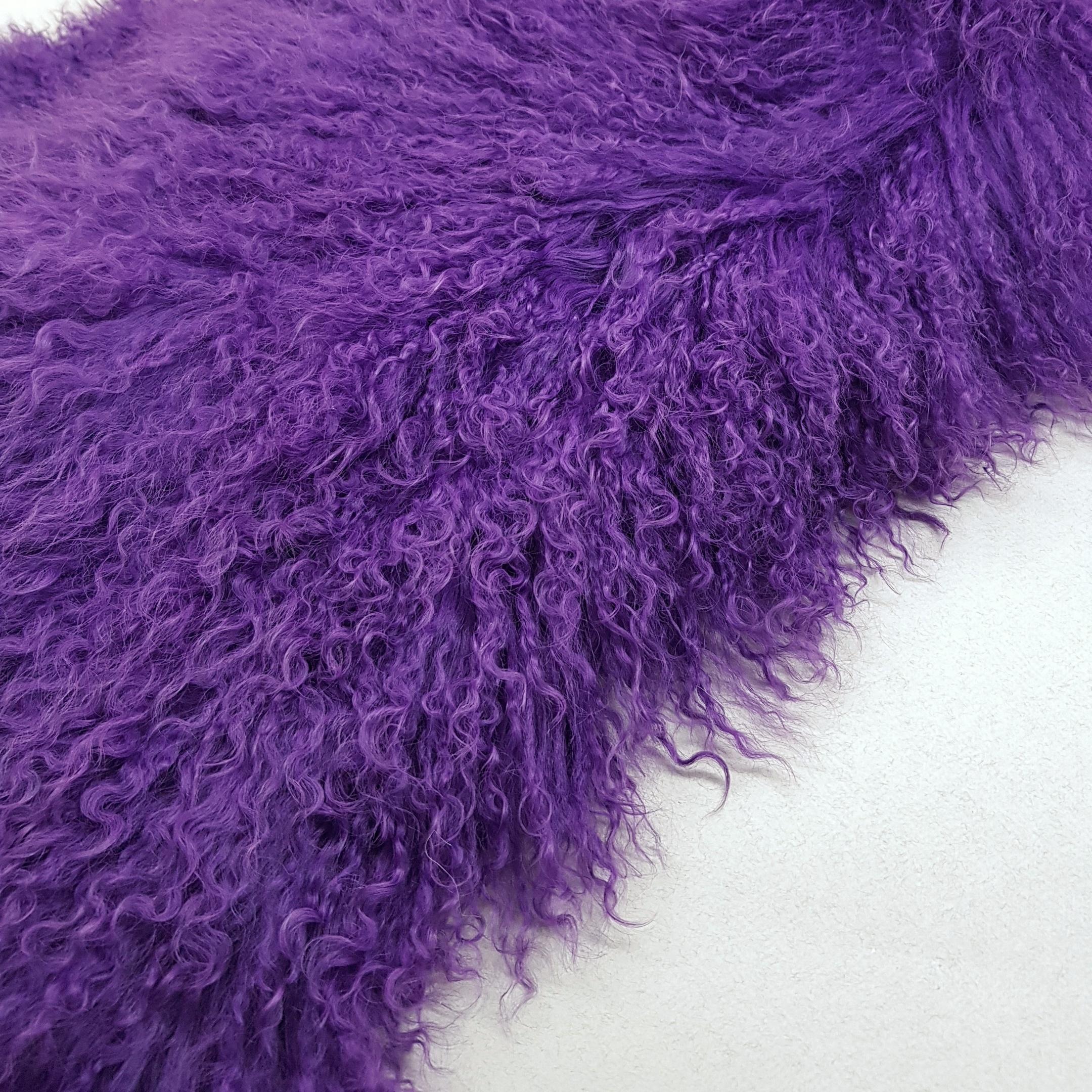 Пластина из ламы фиолетовая