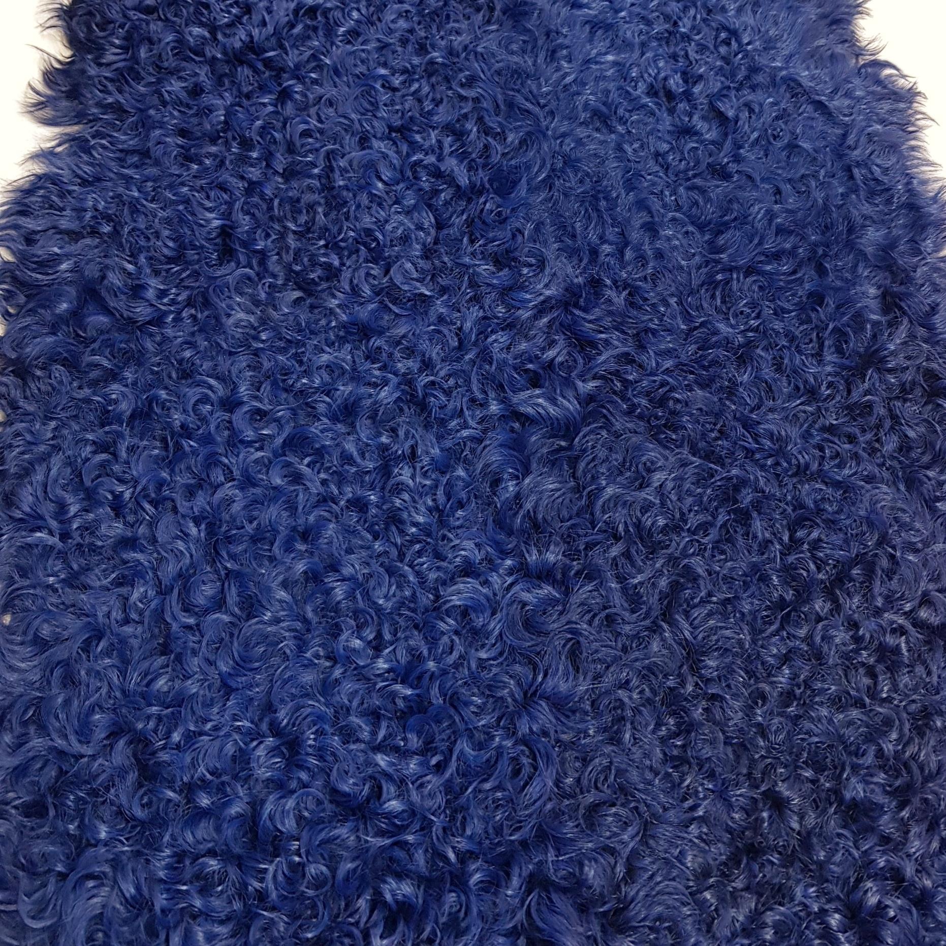 Пластина из калгана синяя