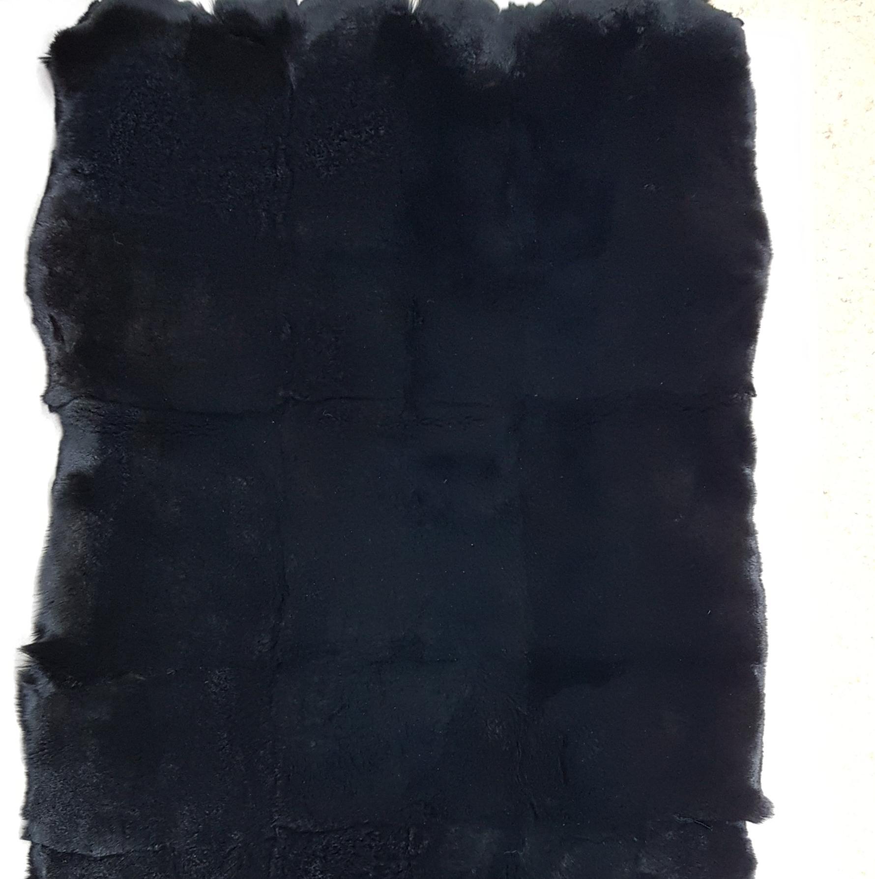 Пластина из кролика рекс черная