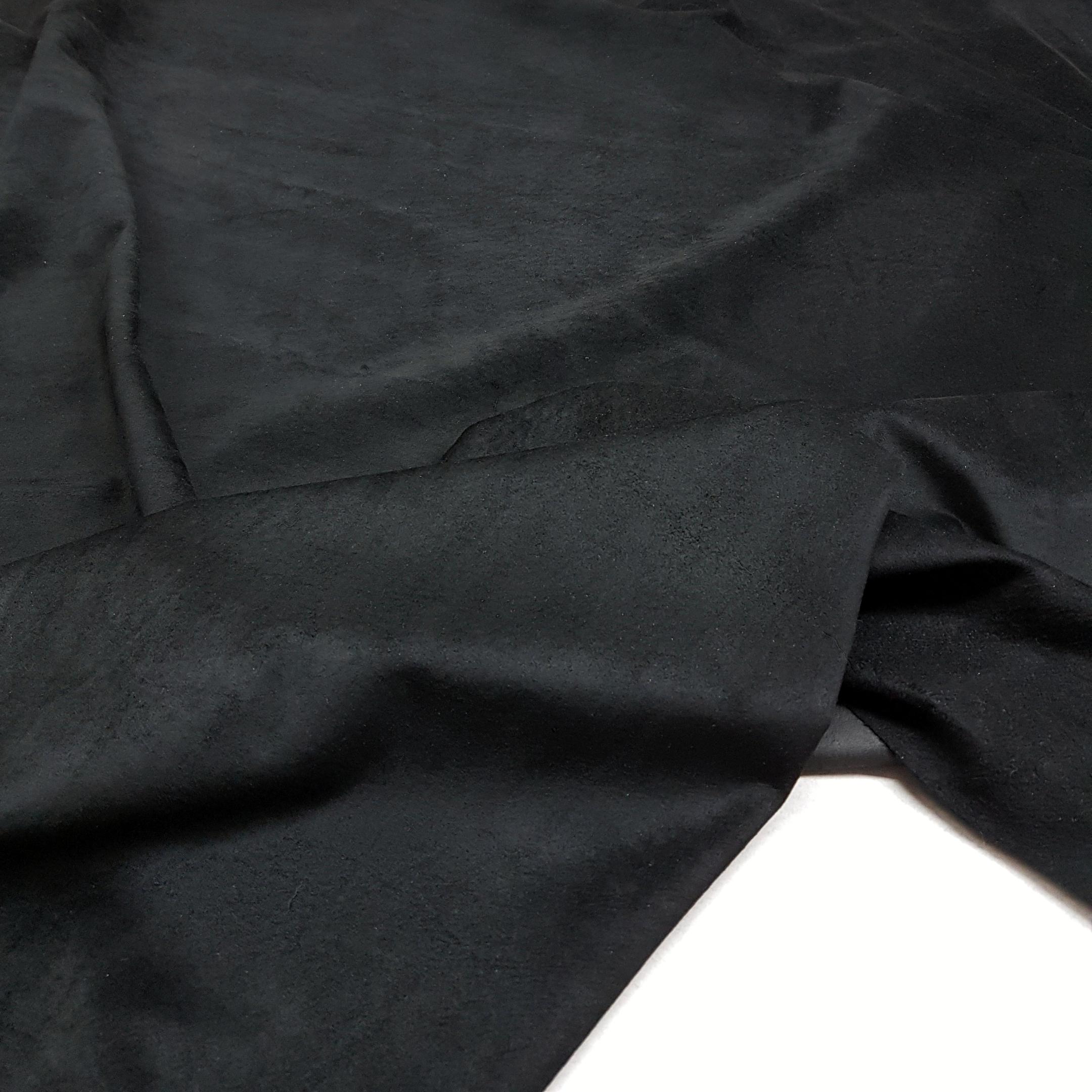 Замша свинина черная