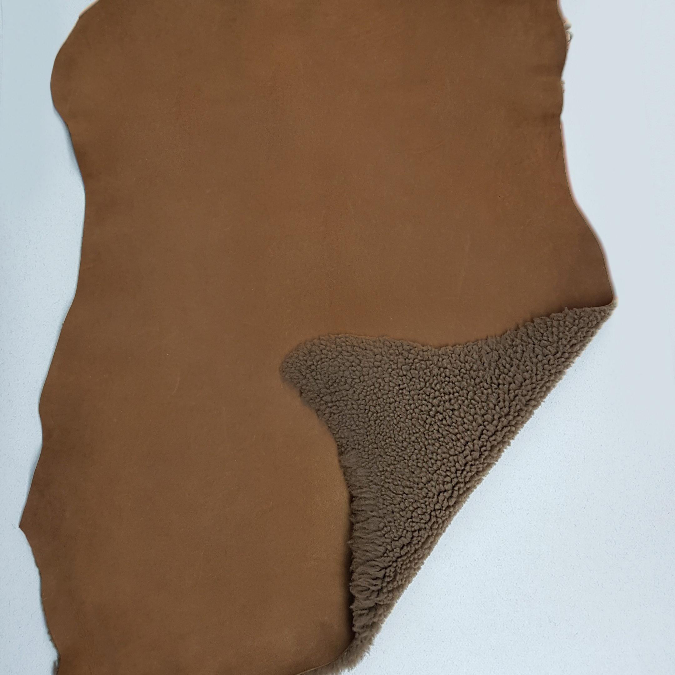 Овчина дубленка керли коричневая