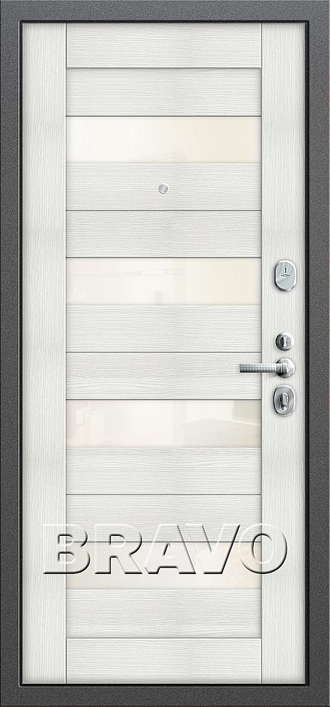фото Т2-223 Антик Серебро/Bianco Veralinga от магазина дверей Диас