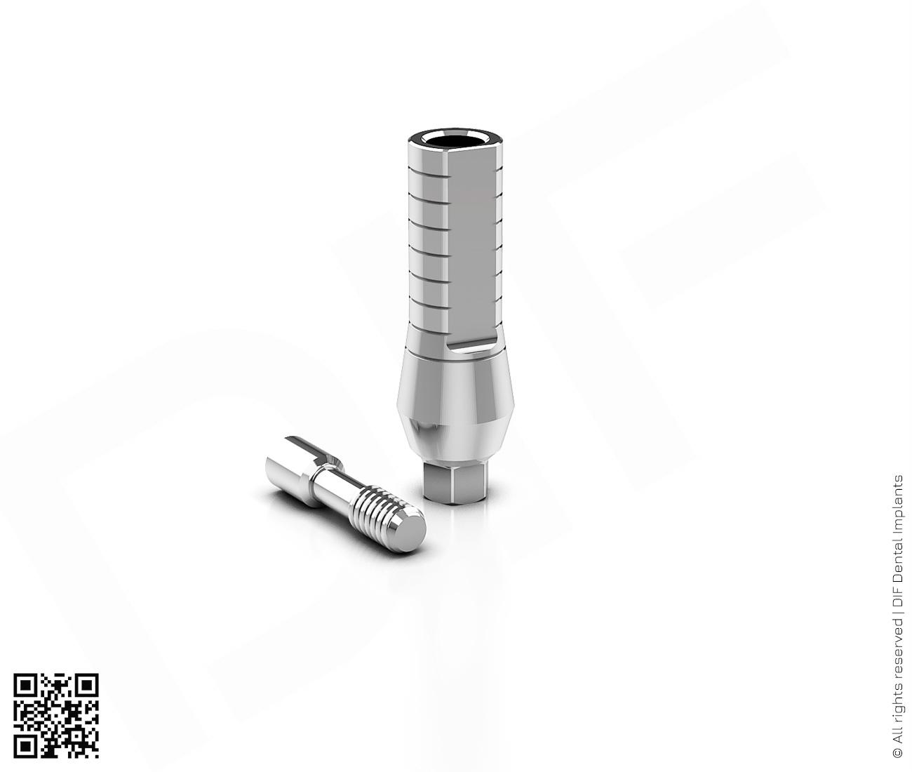 Фото абатмент титановый прямой d4.5 мм – h12.0 мм серии classic  производства DIF.