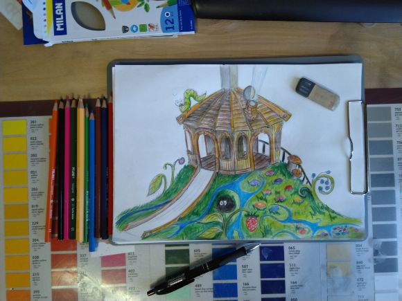 Детская игровая площадка рисунок