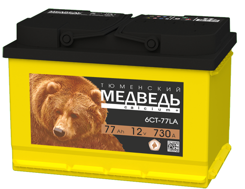Акб Тюменский медведь 6СТ 77 LA