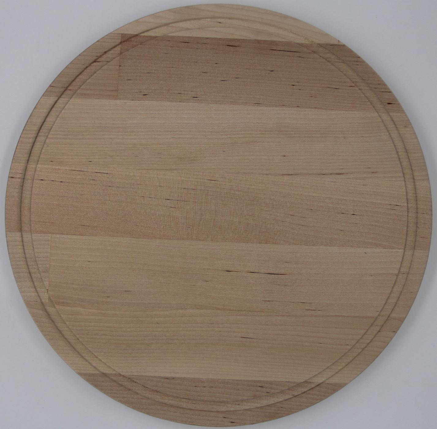 Доска разделочная  береза модель 07 -18  (D30 х1,8см.)