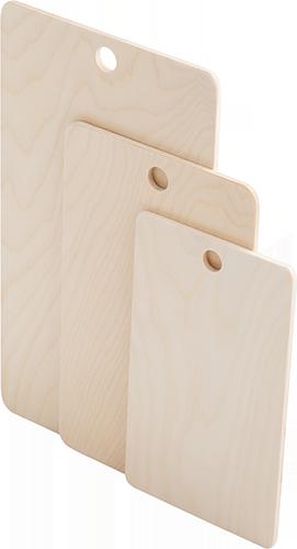 """Набор 3-х  разделочных досок фанера """"прямоугольник"""" - модель 1-6 ( 37х21, 30х16, 25х15, 0,6 см)"""