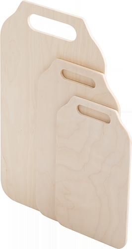 """Набор 3-х  разделочных досок фанера """"скоба"""" модель 2 - 6 ( 37х21, 30х18, 25х15, 0,6 см)"""