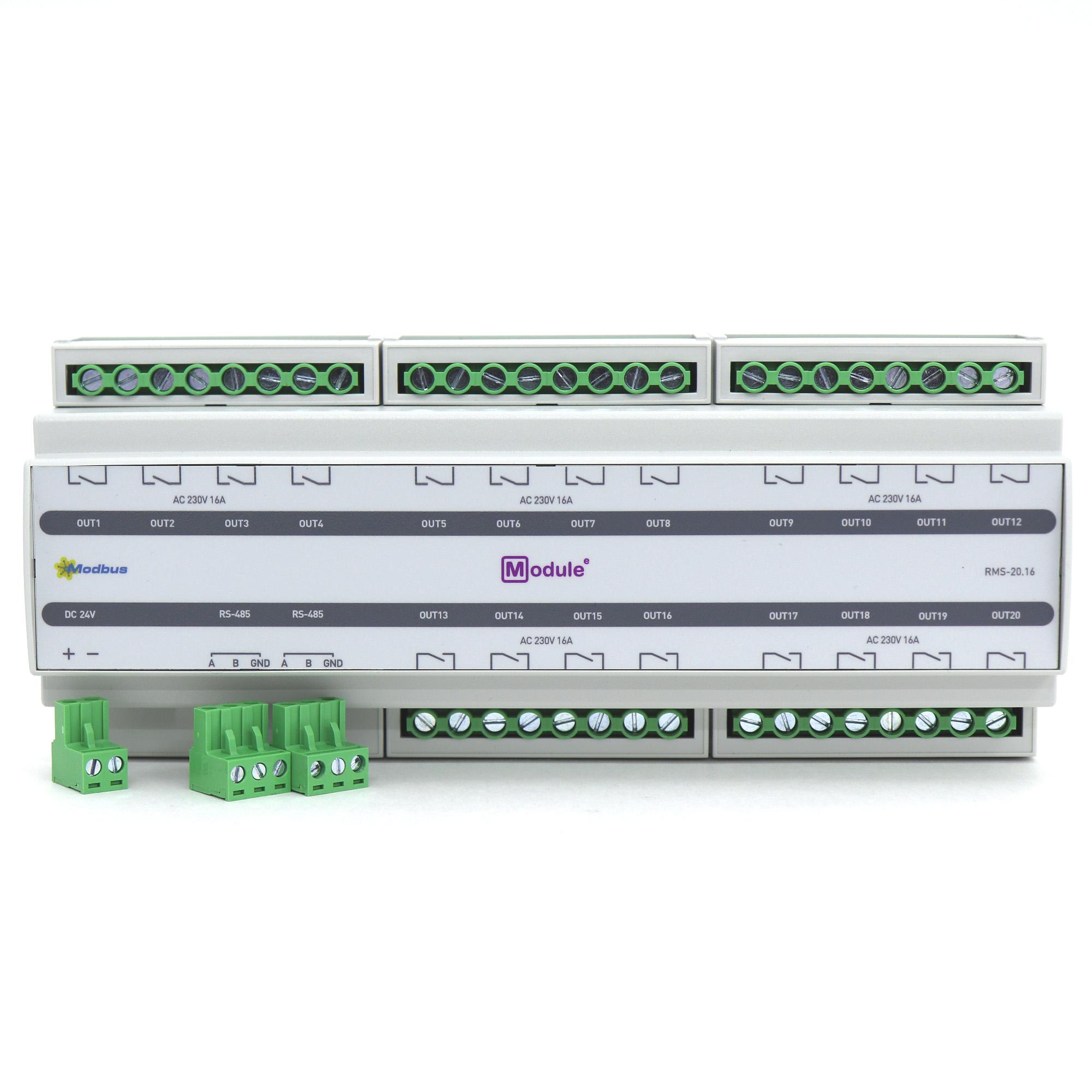 RMS-20.16, Modbus модуль дискретного вывода, 20 каналов 16А
