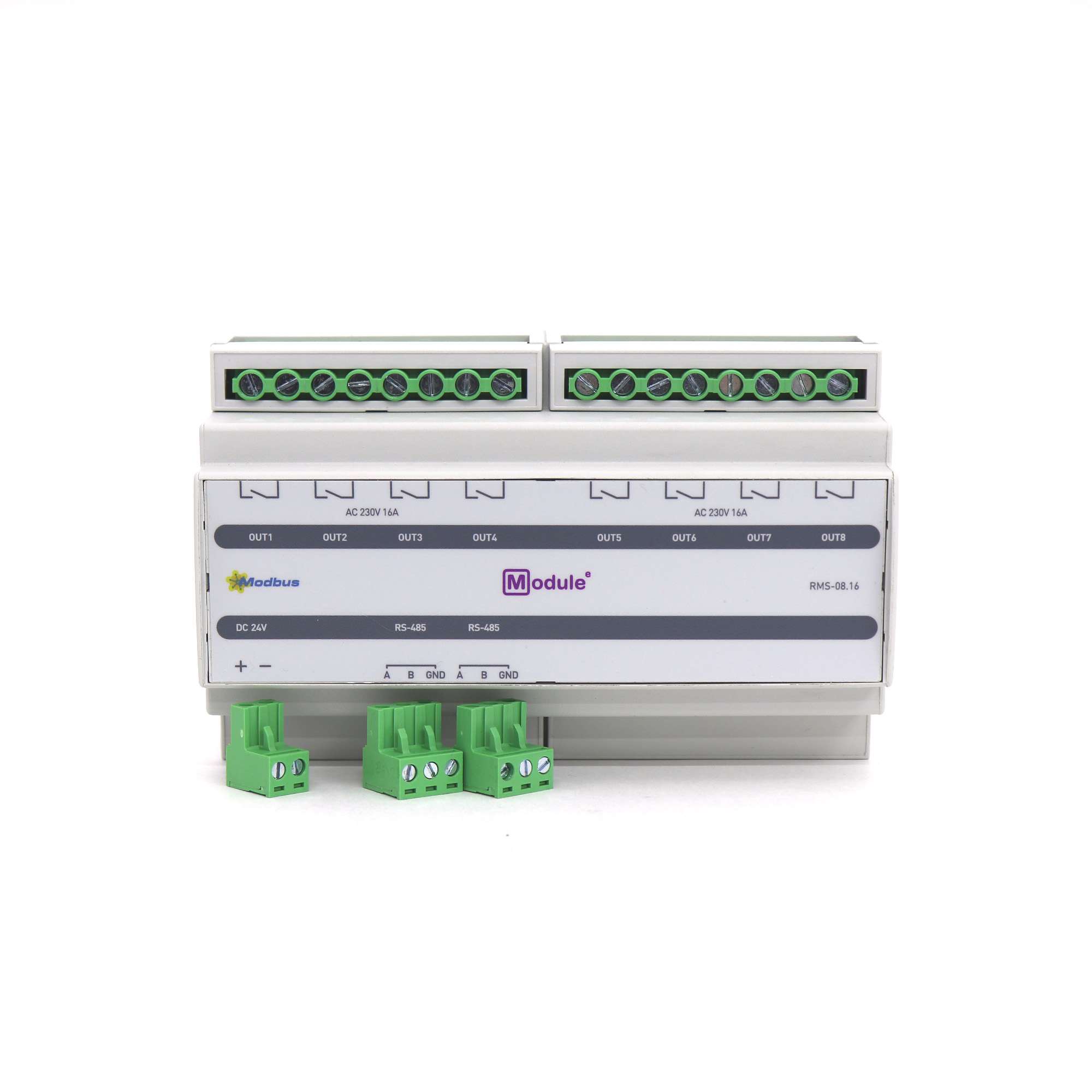 RMS-08.16, Modbus модуль дискретного вывода, 8 каналов 16А