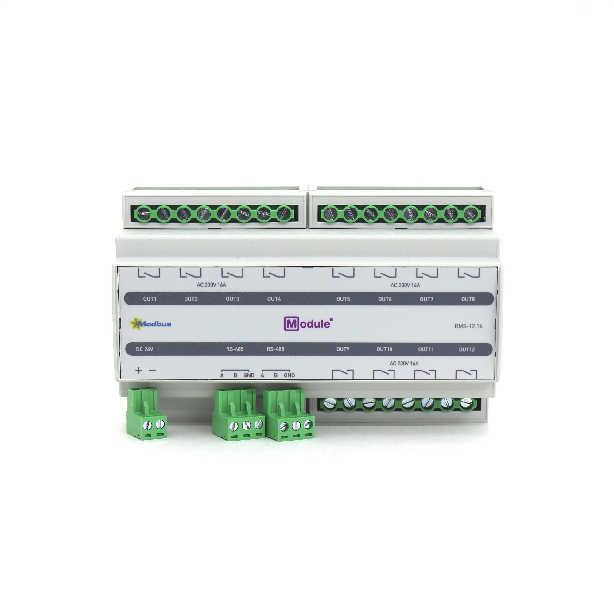 RMS-12.16, Modbus модуль дискретного вывода, 12 каналов 16А