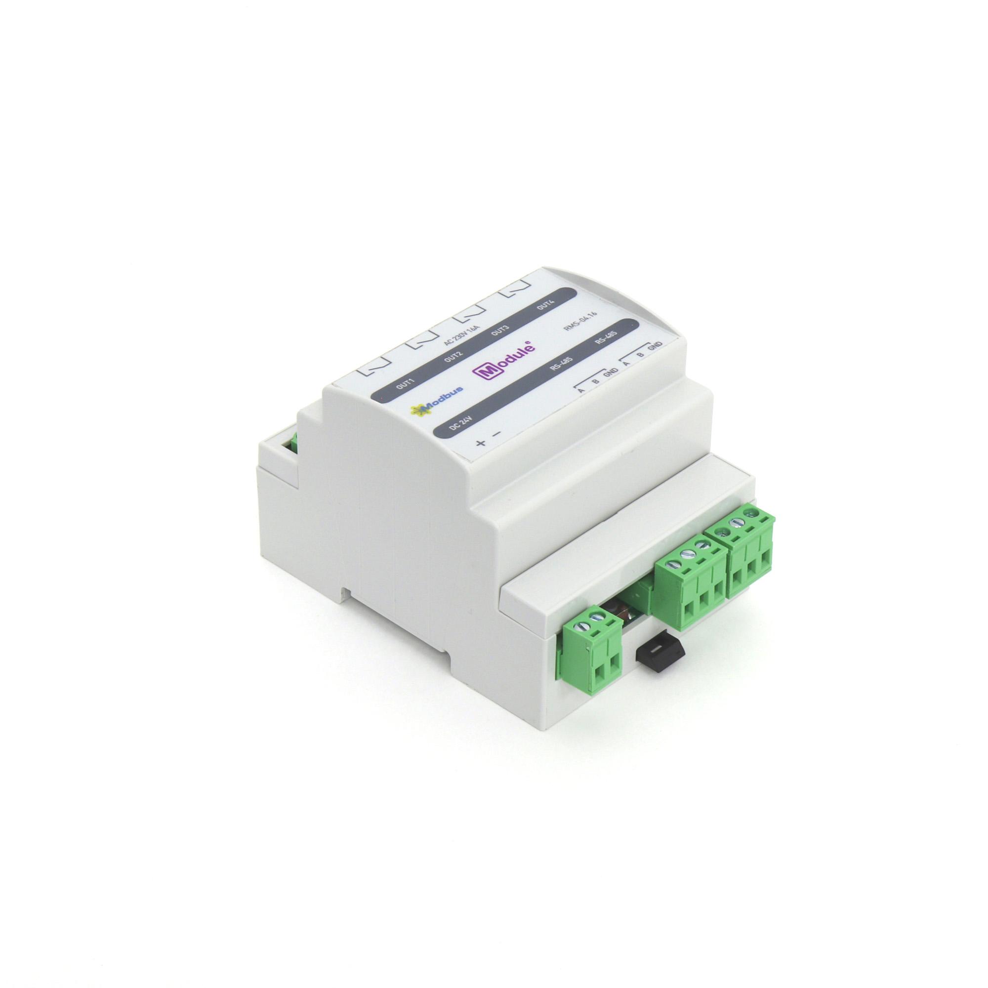 RMS-04.16, Modbus модуль дискретного вывода, 4 канала 16А