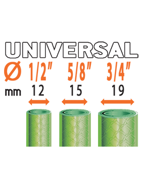 """Коннектор универсальный Claber Ergogrip System для соедининения шлангов любого диаметра (1/2"""" - 5/8"""" - 3/4"""")"""