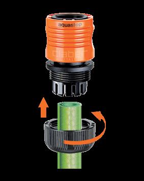 """Коннектор Claber для соединения шланга диам. 3/4"""" с штуцером-насадкой / муфтой, c системой Аквастоп"""