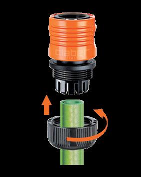 """Коннектор Claber для соединения шланга диам. 1/2"""" с штуцером-насадкой / муфтой"""