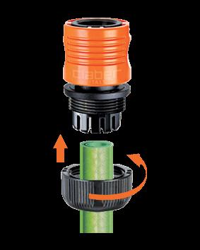 """Коннектор Claber для соединения шланга диам. 3/4"""" с штуцером-насадкой / муфтой"""