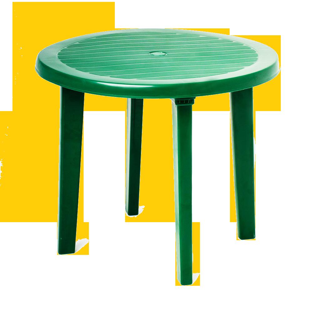 Стол складной пластмассовый круглый