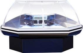 Среднетемпературная холодильная витрина MAGNUM ОС 90 Д с боковинами
