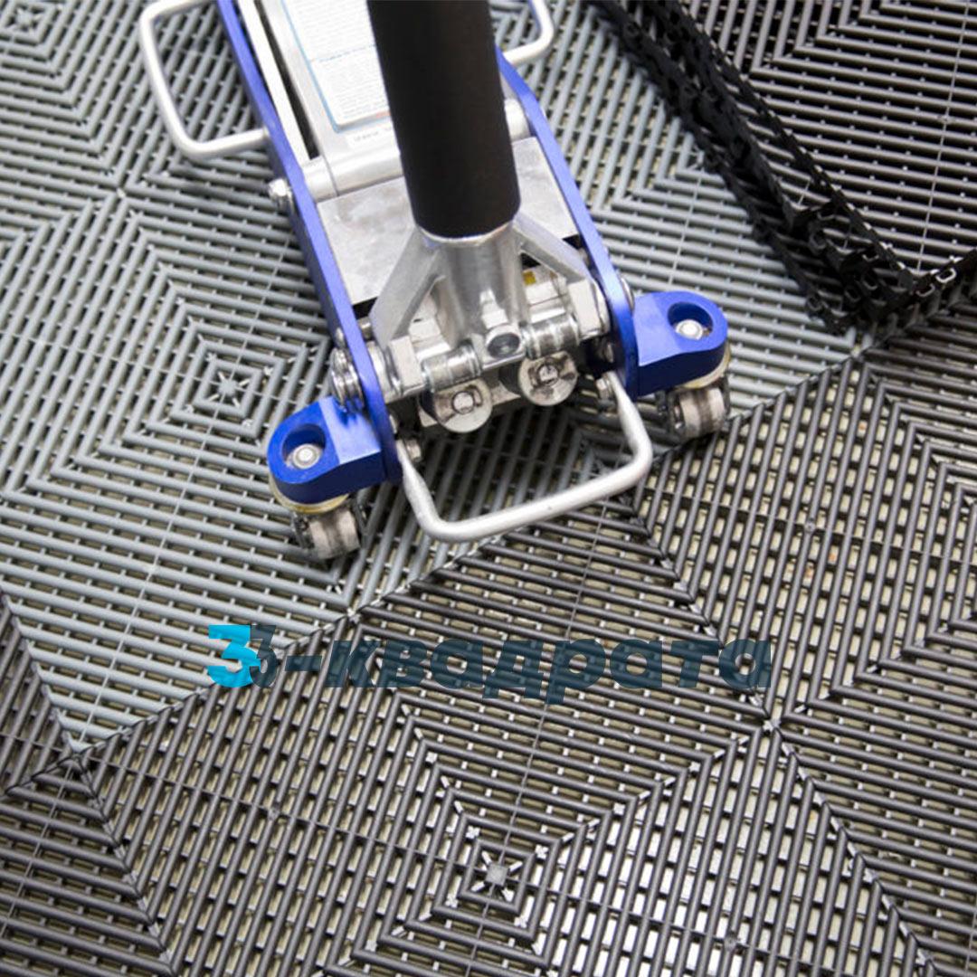 Пластиковая универсальная модульная плитка PR 400x400, серая