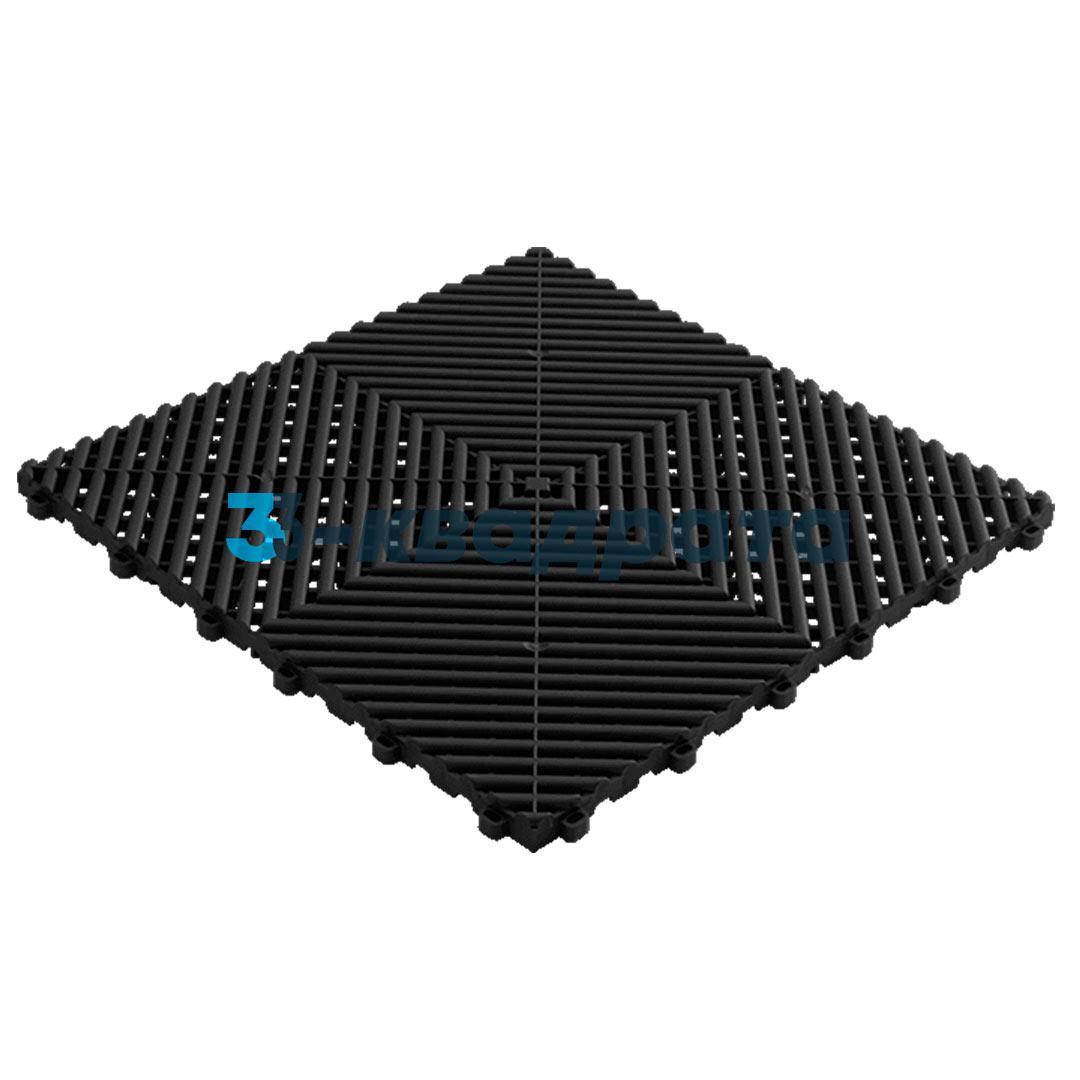 Пластиковая универсальная модульная плитка PR 400x400, черная
