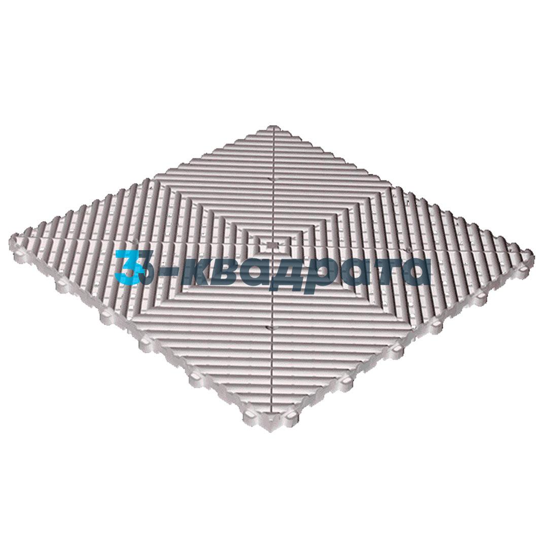 Пластиковая универсальная модульная плитка PR 400x400, белая