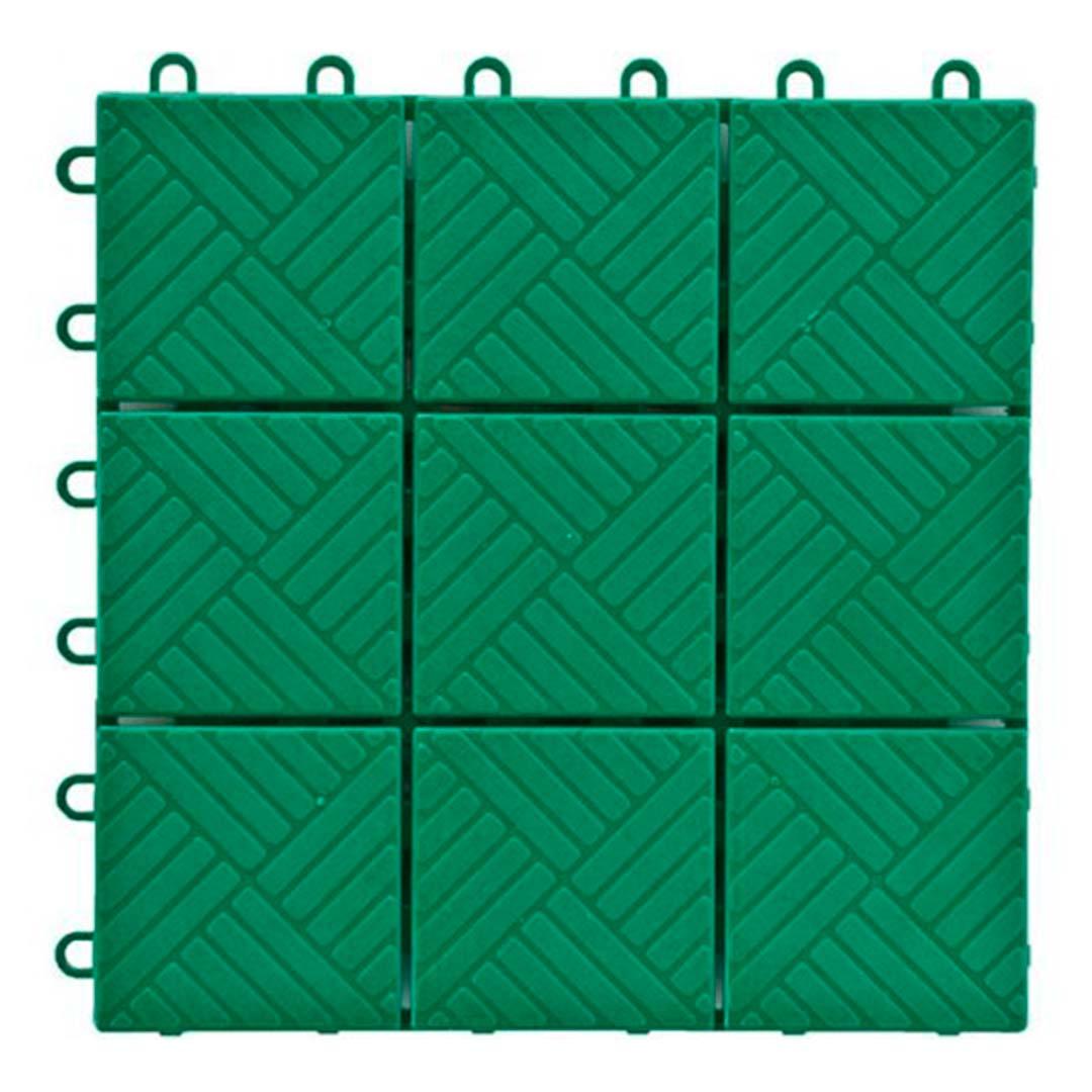 Пластиковая уличная садовая плитка. Модуль, 300x300 мм зеленая.
