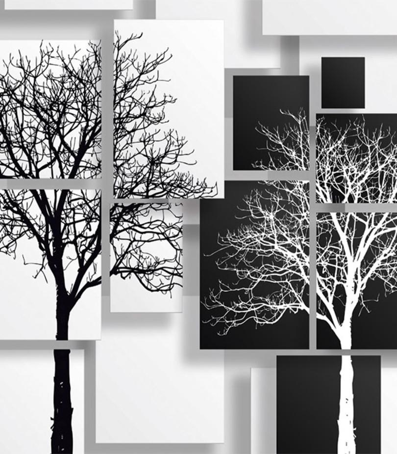 Фотообои Ateliero Черно-белые деревья 21-8120 (2х1,3 м)