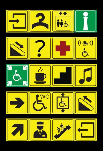 тактильная пиктограмма для инвалидов