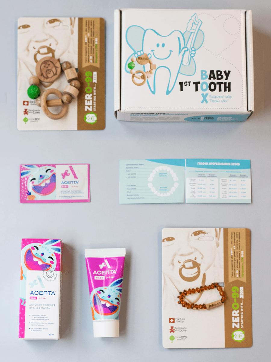 """картинка Набор Baby 1st Tooth Box (""""Первый зубик"""") от магазина МамаЗин"""