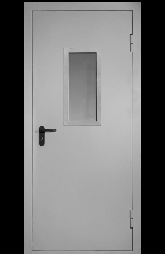 техническая дверь однопольная с остеклением