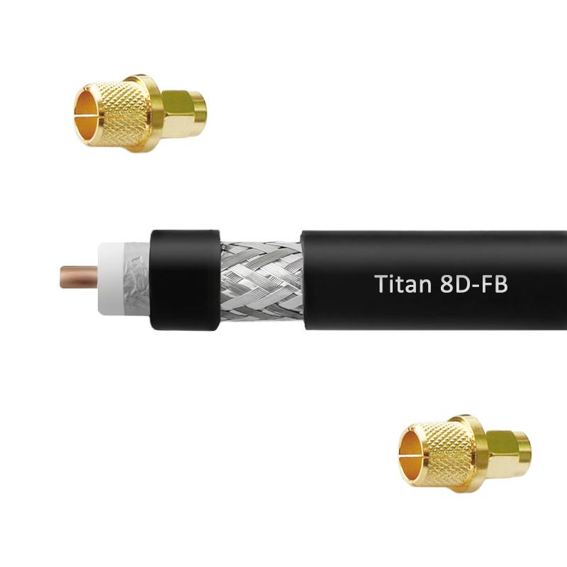 картинка Кабельная сборка 8D-FB Titan (SMA-male - SMA-male) от магазина StroyGsm