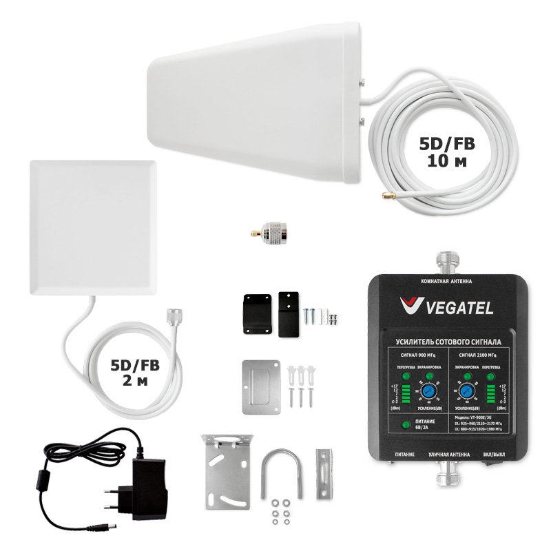 картинка Комплект VEGATEL VT-900E/3G-kit (дом, LED) от магазина StroyGsm