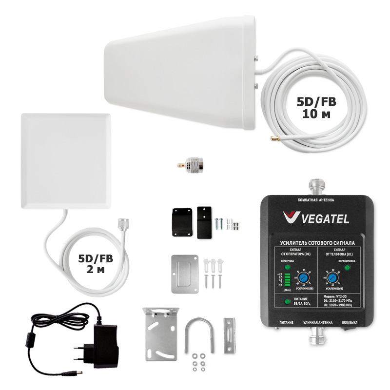 картинка Комплект VEGATEL VT2-3G-kit (дом, LED) от магазина StroyGsm